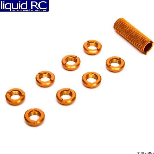 Spektrum A1303 Spektrum Radio Orange Switch Nuts 8 /& Wrench